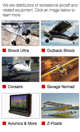 SportairUSA Sidebar Nav Panel